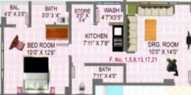 Vasudev Malhar Vadvala Residency (1BHK+1T (402.03 sq ft) Apartment 402.03 sq ft)