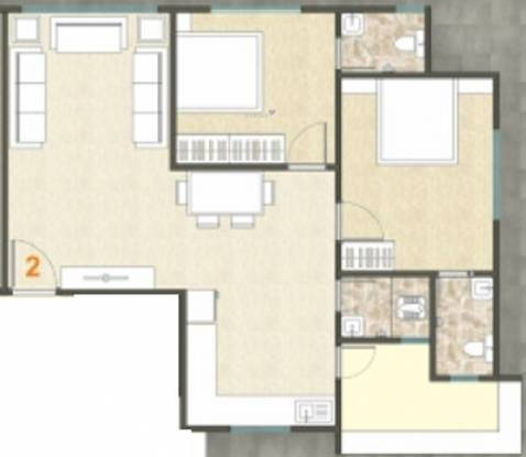Shine City Homes (2BHK+3T (727.1 sq ft) Apartment 727.1 sq ft)