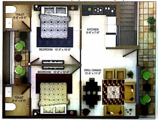 Partap Darpan Greens 2 (2BHK+2T (819.99 sq ft) Apartment 819.99 sq ft)