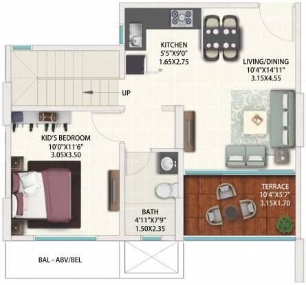 Geras World Of Joy S (2BHK+2T (644.76 sq ft) Apartment 644.76 sq ft)