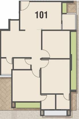 KD Vishakha Elysium (3BHK+3T (767.47 sq ft) Apartment 767.47 sq ft)